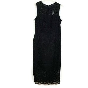 The Limited Lace Overlay Sheath Dress Black 6